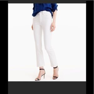 J. Crew Billie Demi Boot Crop White Jean